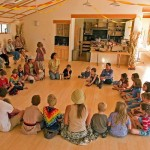 A typical community gathering  (Nevada City Cohousing)