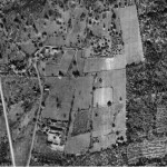 1950s arial view of the land